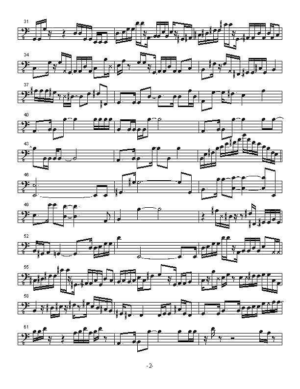 Solo Transcriptions (Bass) « saxopedia