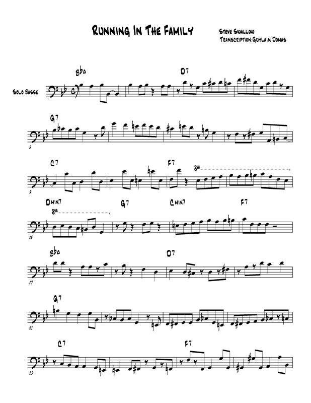 Solo Transcriptions Bass Saxopedia