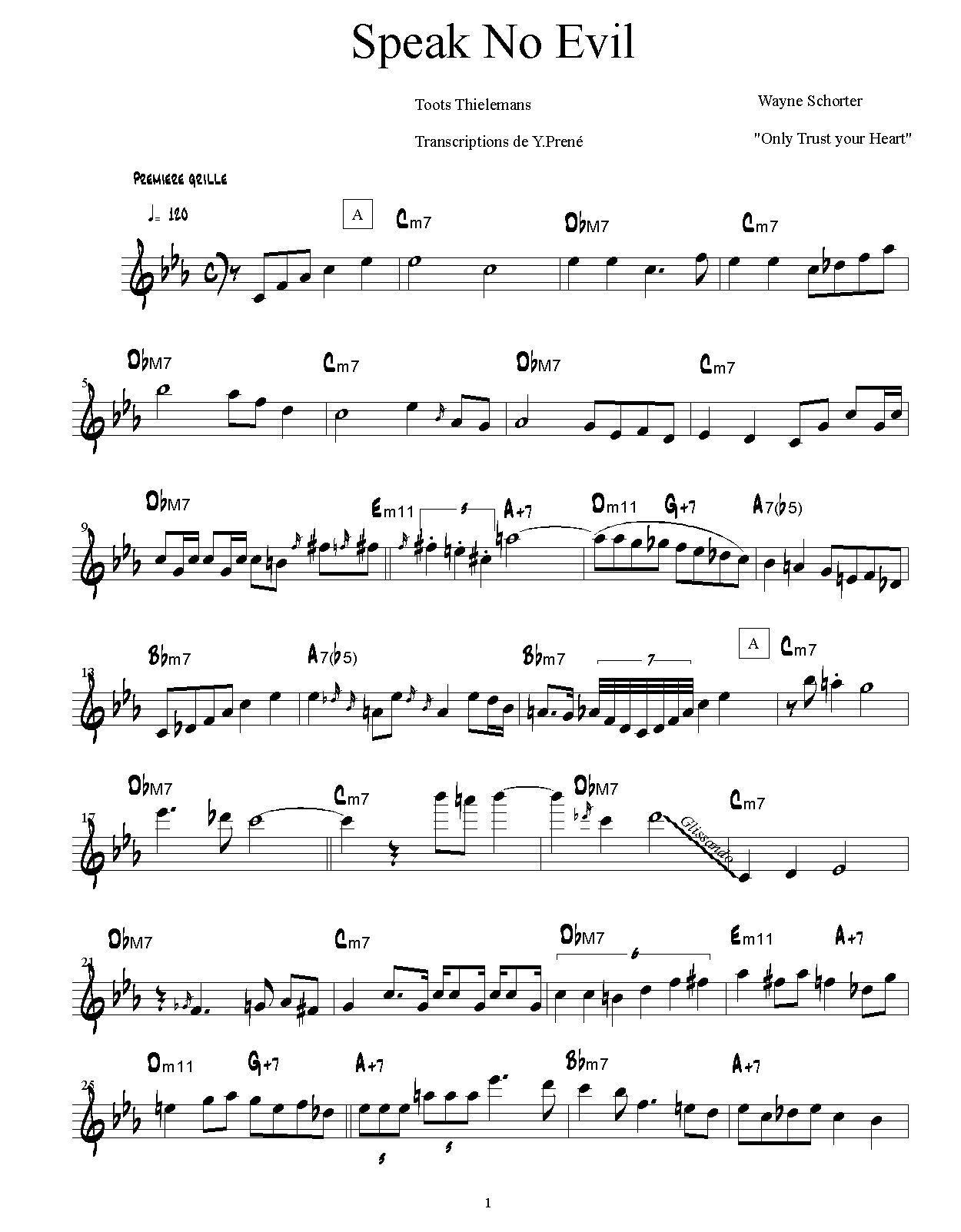 Solo Transcriptions (Miscellaneous) « saxopedia
