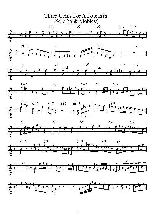 Solo Transcriptions (Sax) « saxopedia
